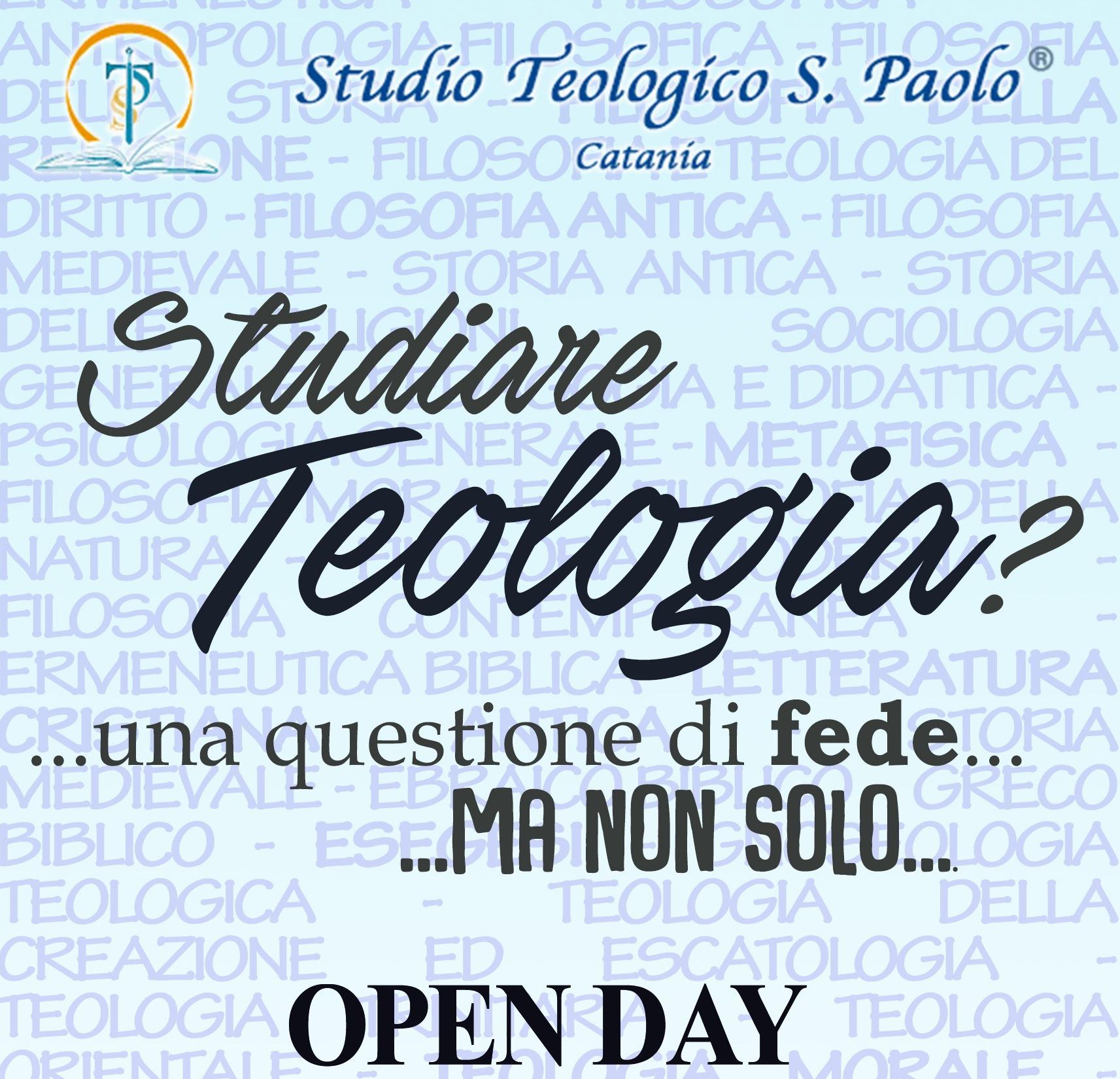 """OPEN DAY ALL'ISTITUTO TEOLOGICO: """"STUDIARE TEOLOGIA? UNA QUESTIONE DI FEDE MA NON SOLO"""""""