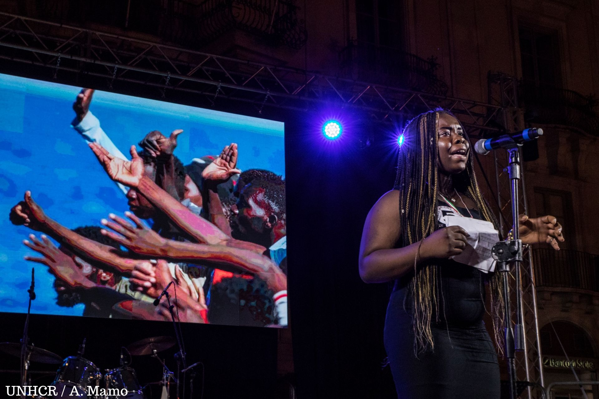 REFUGEES GOT TALENT: VINCE LA POETESSA HANNAH IMORDI