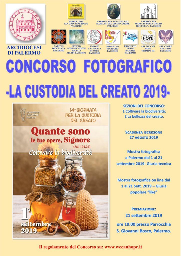 """""""CUSTODIA DEL CREATO 2019"""": CONCORSO FOTOGRAFICO NAZIONALE"""