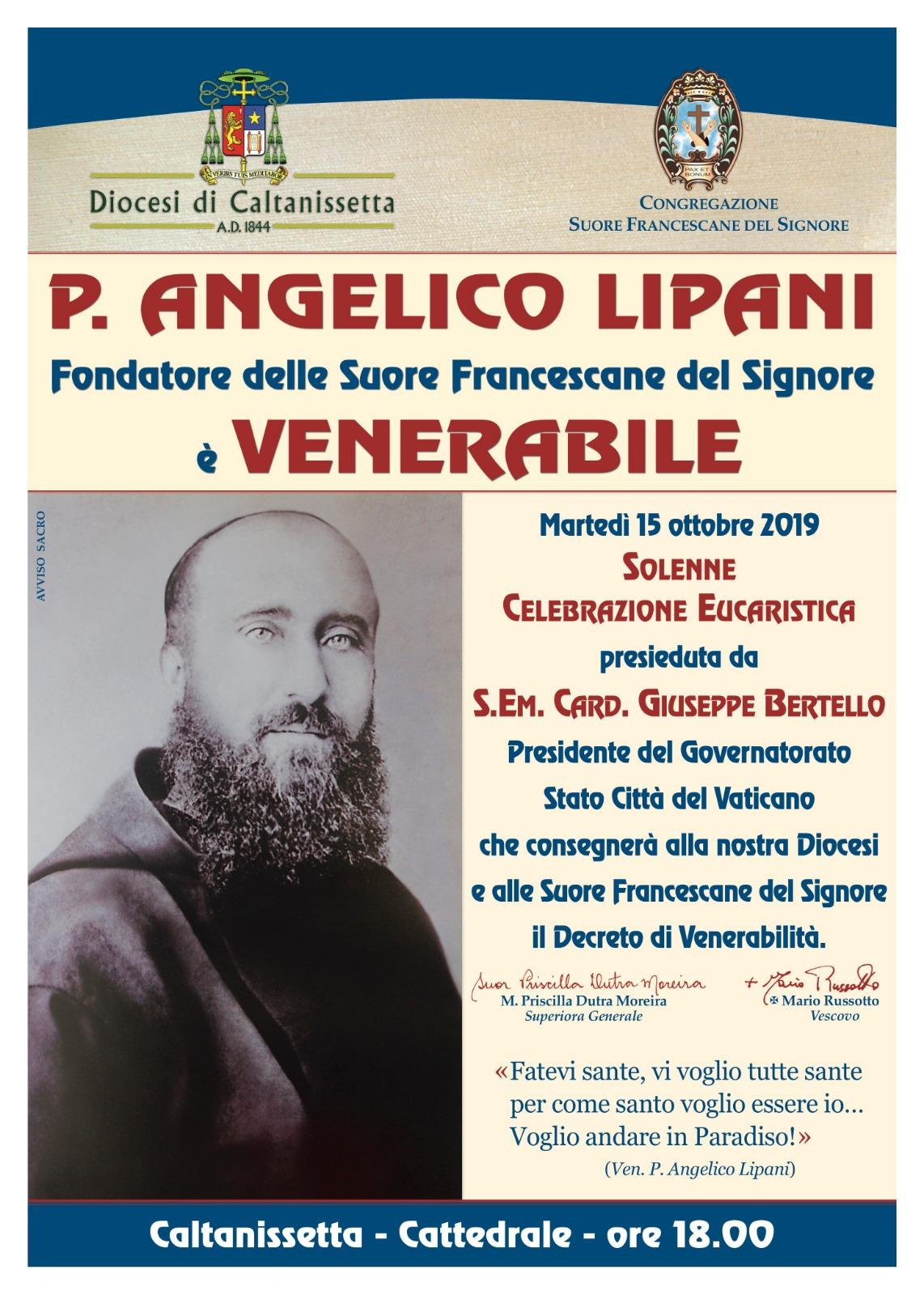 PADRE ANGELICO LIPANI VENERABILE