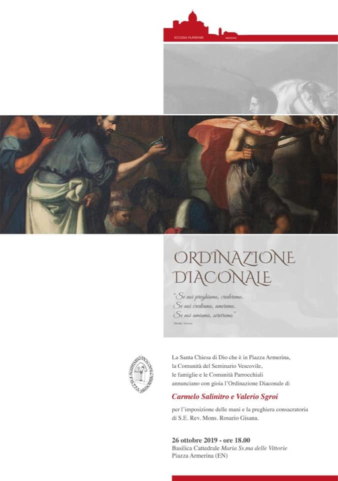 DUE SEMINARISTI ORDINATI DIACONI