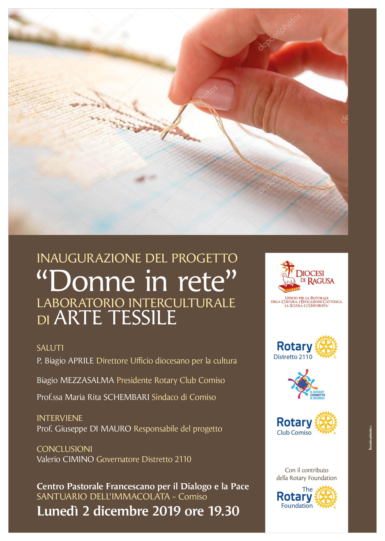 """""""DONNE IN RETE: LABORATORIO INTERCULTURALE DI ARTE TESSILE"""""""