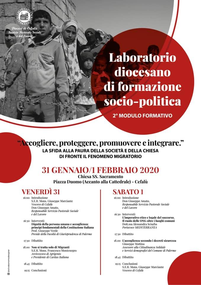 """FORMAZIONE SOCIO-POLITICA: """"ACCOGLIERE, PROTEGGERE, PROMUOVERE E INTEGRARE"""""""