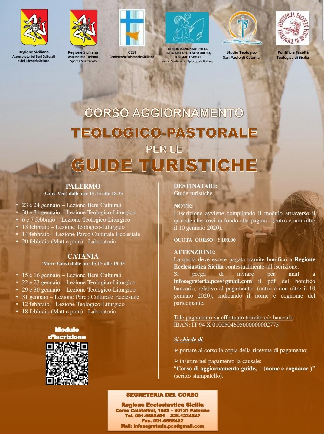 TURISMO RELIGIOSO: LE GUIDE DI SICILIA A SCUOLA DI TEOLOGIA E PASTORALE