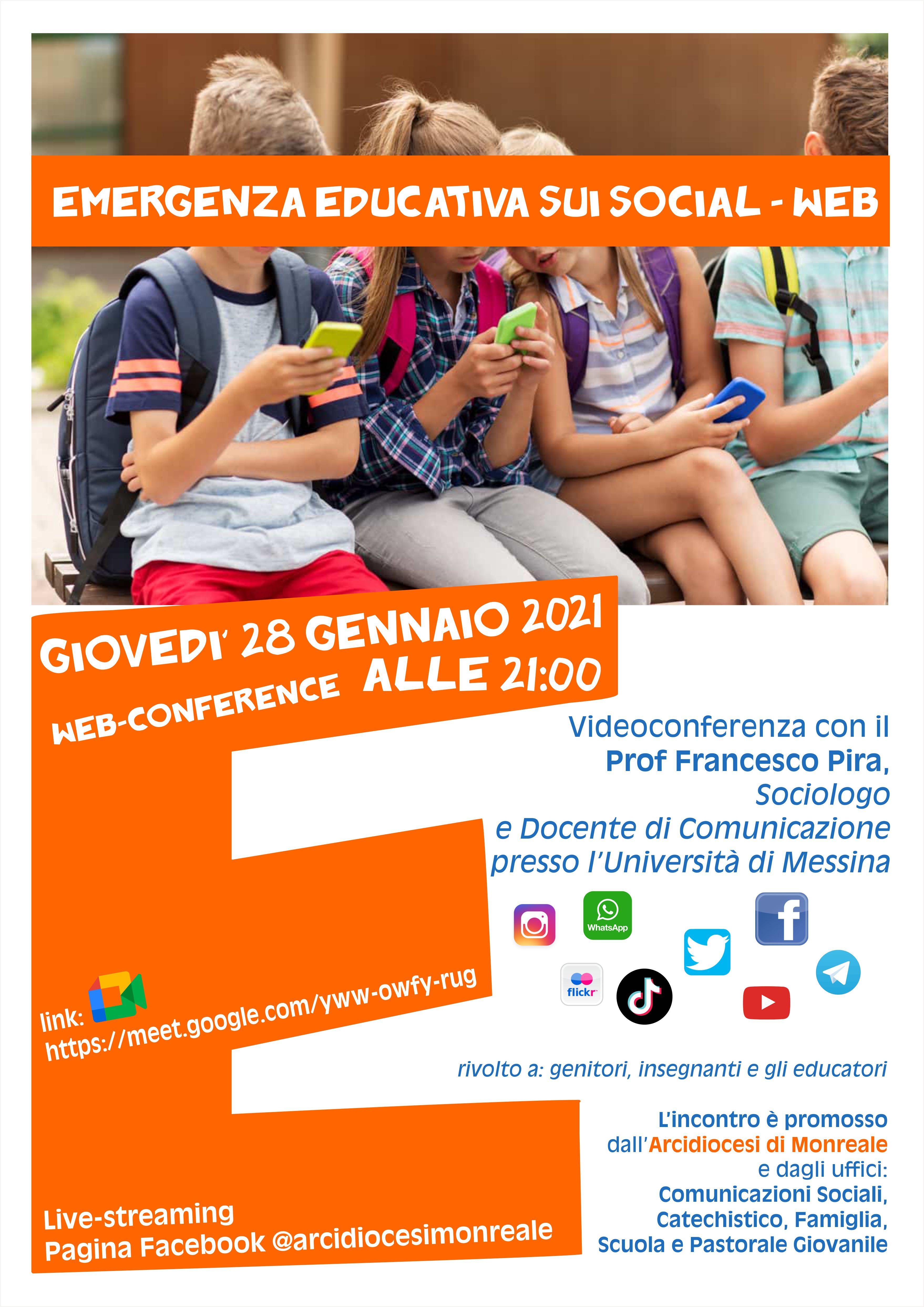 EMERGENZA EDUCATIVA SUI SOCIAL-WEB PER GENITORI, INSEGNANTI ED EDUCATORI